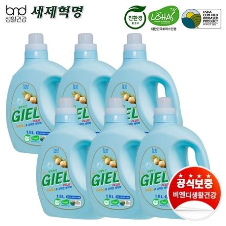 [세제혁명] 지엘플러스 1.8L 액체세제 6통
