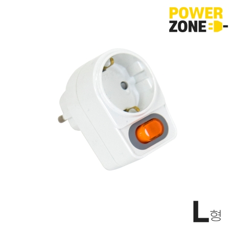 [파워존] 멀티콘센트 1구 L형 개별스위치 16A
