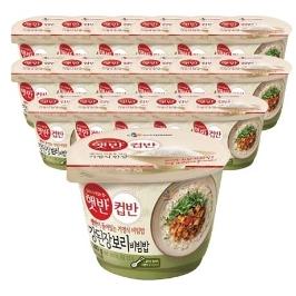 [원더배송] CJ 햇반 컵반 강된장보리비빔밥 280g x 18개