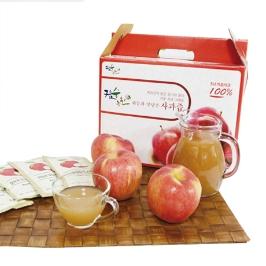 물없이 햇사과를 통째로 갈아만든 운림 사과즙 120ml 50봉