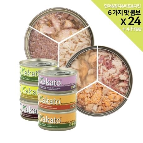 카카토 프리미엄 Cats&Dogs 수제간식 6가지맛 콤보x24개