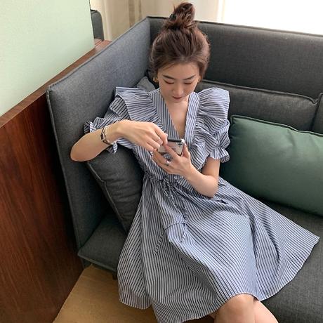 [제로의옷장]아펠 프릴 미니원피스 OP0720R07