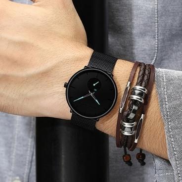 남성 무브먼트 쿼츠 손목시계