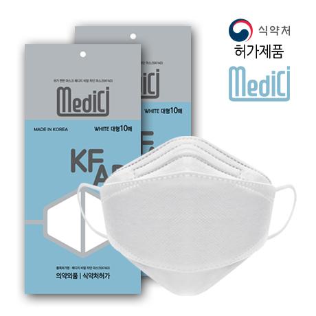 메디치 여름용 국산필터 3D 비말차단 KF-AD마스크 100매 (장당84원)