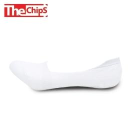 THE CHIPS 국산 남성 페이크삭스 3켤레 화이트 고급 코마사 실리콘 패드