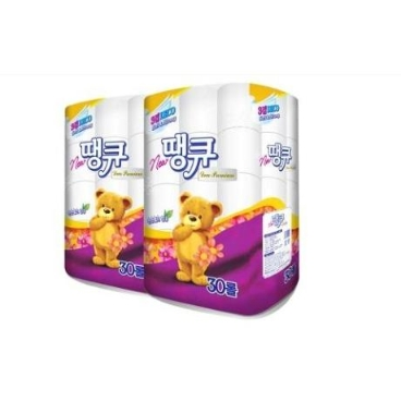 [NEW땡큐] 화장지 (30롤 x 2팩) / 3겹 두루마리 휴지