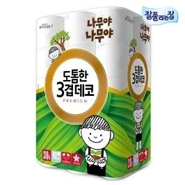 [더싸다특가] 나무야나무야 도톰한3겹데코30m 30롤