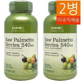 [지앤씨] [해외배송] 2병 GNC 쏘팔메토 베리 540mg 100정