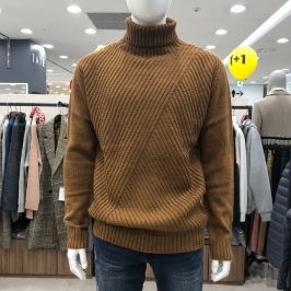 [모다아울렛] 닉스 남성 사선케이블 터틀넥 스웨터 NMW CWT112-1