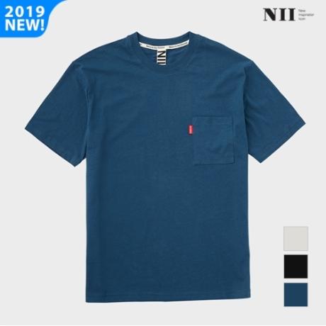 남여공용 솔리드 싱글 오버핏 라운드티셔츠 (NNUARVM2501)