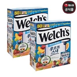 웰치스 후르트젤리 2kg(25.5g x 80봉) X 2개