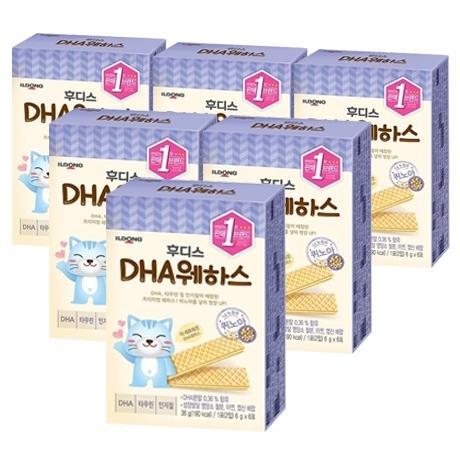 [일동후디스] 아기밀냠냠 DHA 웨하스 36g X 6개