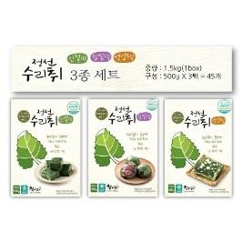[쇼핑빅딜리그] 정선수리취떡 실속세트 (냉동 인절미1봉+찹쌀떡1봉+영양떡1봉)