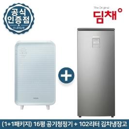 [딤채] ★ (전국무료배송) 1+1 위니아 딤채 20년신형 김치냉장고 EDS10DFMMSS 공기청정기 EPA16DAAP 패키지