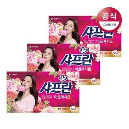 샤프란 시트 섬유유연제 핑크 50매x3개