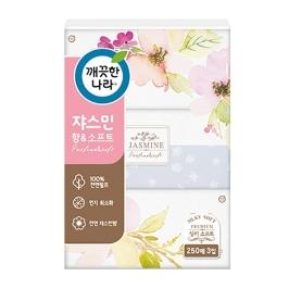 깨끗한나라 쟈스민 미용티슈 250매 3입
