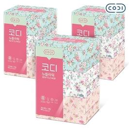 [원더배송] [원더쿠폰] 코디 뉴플라워 각티슈 250매 3입 X 3개 화장지