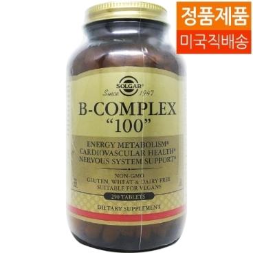 [해외배송] 250타블렛 솔가 비컴플렉스 '100' B-complex 100