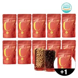 밀라이트 초코틴 무설탕 크리스피 병아리콩 다크 초콜릿 식물성 단백질 다이어트 초콜렛 과자 선물 어른 사무실 간식 10+1팩