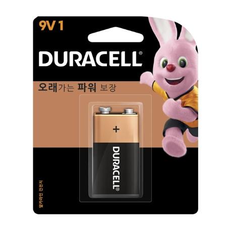 듀라셀 알카라인 건전지 9V/1개입/1P/카드형