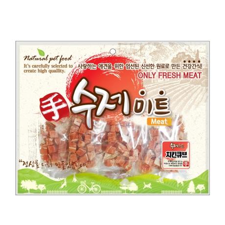 수제미트 대용량 강아지간식 치킨큐브 300g