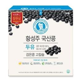 [원더배송] 이롬 황성주 검은콩 고칼슘 두유 190ml X 16