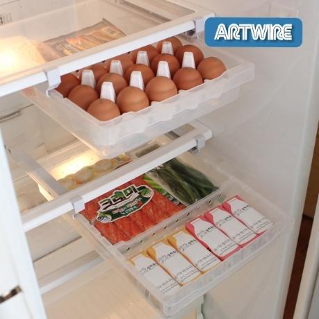 와이드 슬라이드 냉장고선반 2세트