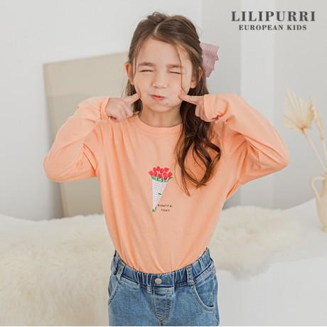 [LILIPURRI]뷰티데*티셔츠(오렌지)