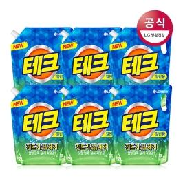 [더싸다특가] 테크 진드기제거 액체 세제 리필 2L x6개