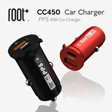 root+ 45W PPS 초고속 차량용충전기 2포트 RTC-CC450