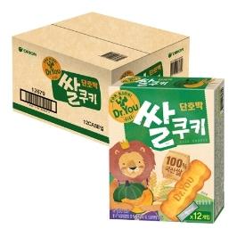 [원더배송] 오리온 닥터유 단호박 쌀쿠키 66g x 12개(1box)
