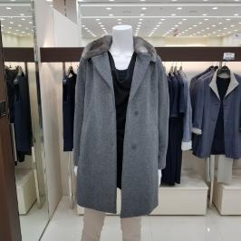 [모다아울렛] 벨라디터치 밍크카라 앙고라 코트 V174CT60