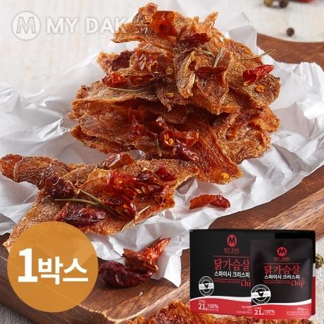 마이닭 닭가슴살칩 크리스피칩 스파이시 1박스 (25gX10개)