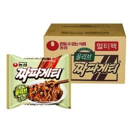 [원더배송] 농심 올리브 짜파게티 40입 x 5박스 (총 200봉)