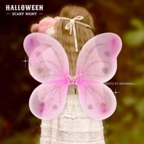 할로윈 쉬폰 나비날개-핑크
