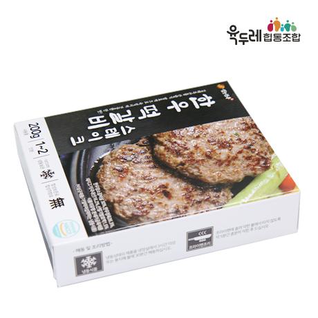 [육두레]산딸기발효액 숙성 한우 떡갈비 스테이크 200gX3팩