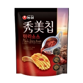 [원더배송] 농심 수미칩 마라소스 80g 12봉