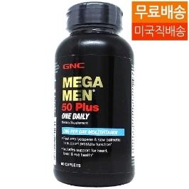 [지앤씨] [해외배송] 지앤씨 메가맨 원데일리 50플러스 멀티비타민 60정