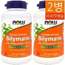 [해외배송] 무배 2병/100캡슐 나우푸드 밀크씨슬 실리마린 Silymarin 300mg__