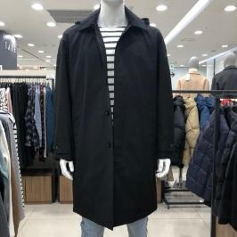 [모다아울렛](닉스)남성 후드맥코트(오버핏) NNS CCV102 - BK