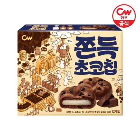 [청우식품] CW청우 쫀득초코칩 240g 12개입x1개