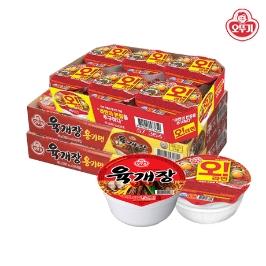 [원더배송] 오뚜기 육개장사발면6+6+오라면 컵6
