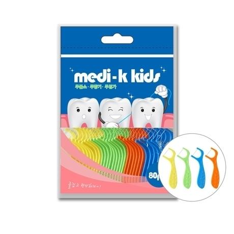 Medi-K 메디케이 키즈 유아치실 80p #국내생산 #일회용치실 #어린이치실