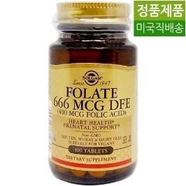 [해외배송]솔가 엽산 Folic Acid 400mcg 100정