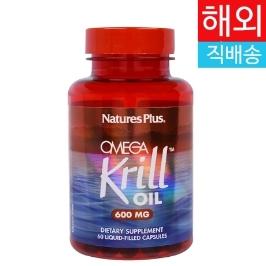 [해외배송] 네이쳐스플러스 크릴 오일 Krill Oil 600mg 60캡슐