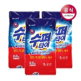 [신제품]수퍼타이 진드기제거 가루세제 6kg x3개 (한박스)