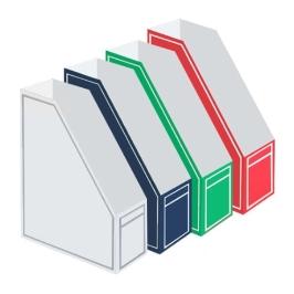오피스존 OEM A4 박스화일 라인 파일박스 낱개