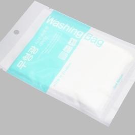 [싸고빠르다] 구김 엉킴NO! 안심 무형광 지퍼 사각 세탁망 속옷용 1매 (27*40cm)