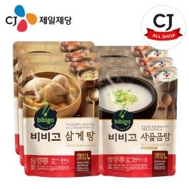 [CJ제일제당] (현대Hmall)CJ 비비고 삼계탕 800g×3개+사골곰탕 500g×3개