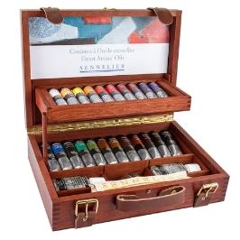 [시넬리에]전문가 유화물감세트 22색 / WoodenBOX / N130351